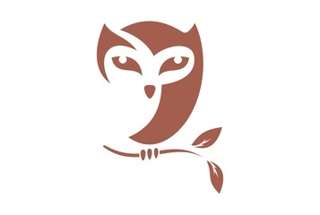 brown owl logo vector