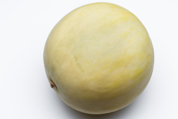 Orange melon - Cantaloupe - on a white background - Cantaloupe melon