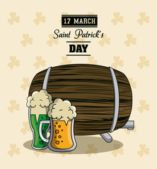 Saint patricks days cartoons card vector illustration grapic design