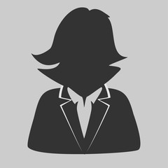 Default avatar profile icon. Grey photo placeholder