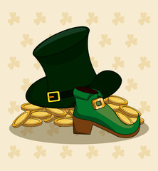 St patricks day cartoons vector illustration grapic design