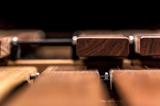 A part of a marimba