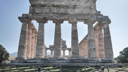 greece template in Paestum, Italy