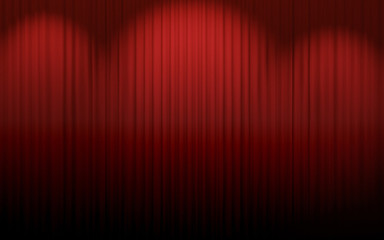 Red curtain theater
