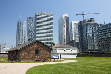 The historic buildings at Fort York in Toronto