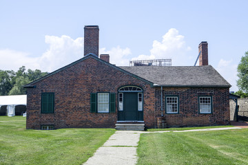 The officers brick barracks at Fort York in Toronto
