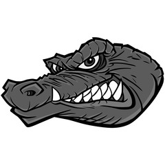 Gator Mascot Illustration - A vector cartoon illustration of a sports team Gator Mascot.
