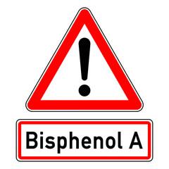 ncsc40 NewCombinationSignCaution ncsc - Achtung - BPA in Konservendosen - Ausrufezeichen / dreieckig - Text: Bisphenol A - xxl g5875