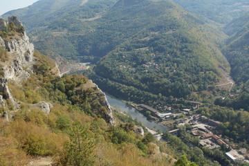 Amazing Panoramic view of Iskar Gorge, Balkan Mountains, Bulgaria