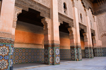 Moroccian culture colors and patterns