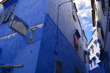 "Blue houses in a ""blue city"" of Chefchaouen"