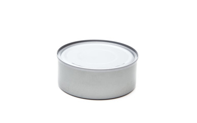 A Silver Tin Containing Food - Tuna, Salmon, or Animal Food
