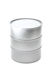 A Silver Tin Containing Food - Tuna, Salmon, or Animal Food