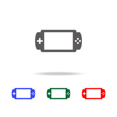 Handheld game console icon. Elements in multi colored icons for mobile concept and web apps. Icons for website design and development, app development