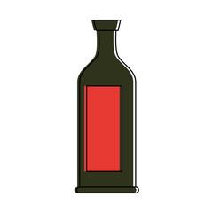 liquor bottle with blank label icon image vector illustration design