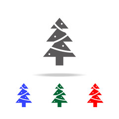 Christmas pine tree icon. Elements in multi colored icons for mobile concept and web apps. Icons for website design and development, app development