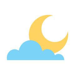 cloud half moon weather sky image vector illustration