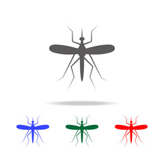 Mosquito icon. Elements in multi colored icons for mobile concept and web apps. Icons for website design and development, app development