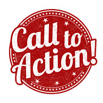 Call to action grunge rubber stamp