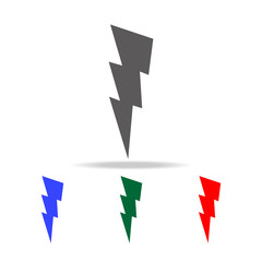 lightning sign icon. Elements in multi colored icons for mobile concept and web apps. Icons for website design and development, app development