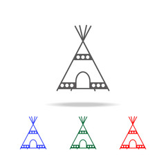 wigwam line icon. Elements in multi colored icons for mobile concept and web apps. Icons for website design and development, app development