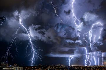Thunderstorm passing through