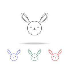 cute bunny icon. Elements in multi colored icons for mobile concept and web apps. Icons for website design and development, app development