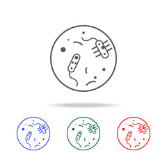 bacteria icon. Elements in multi colored icons for mobile concept and web apps. Icons for website design and development, app development