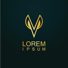gold letter V logo