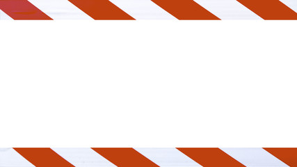Red and white caution warning tape