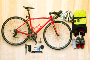 Bicycle set for cycling