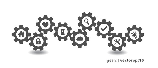 Gear Icons - Set 1