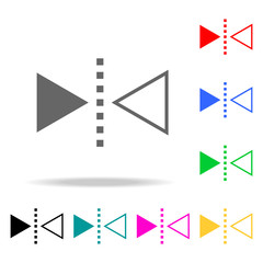 reflect tool icon. Elements in multi colored icons for mobile concept and web apps. Icons for website design and development, app development