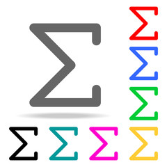 Sigma greek letter icon. Elements in multi colored icons for mobile concept and web apps. Icons for website design and development, app development