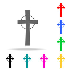 Religious cross icon. Elements in multi colored icons for mobile concept and web apps. Icons for website design and development, app development