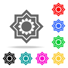 Eight point star icon. Elements in multi colored icons for mobile concept and web apps. Icons for website design and development, app development