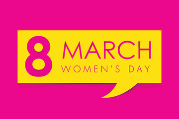March 8. International Women's Day greeting card paper cut for your design. vector illustration