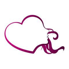 Heart shaped girl avatar