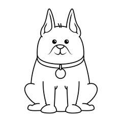 cute dog mascot character vector illustration design