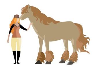 jockey woman with horse