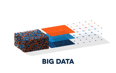 Big data illustration with structuring map reduce process Papier Peint