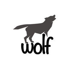 Wolf Logo Text Template