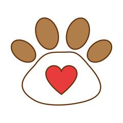 footprint paw mascot icon vector illustration design