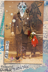 Deurstickers Imagination Ghost and weird. Mysterious,macabre and esoteric collage series.