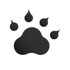 Dog or cat paw print icon line outline style isolated on white background, the illustration is flat, vector, pixel perfect for web and print. Linear stokes and fills.