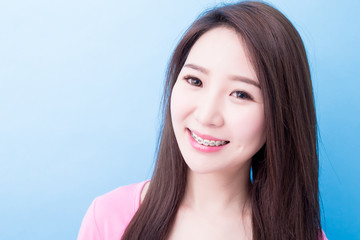 woman smile happily