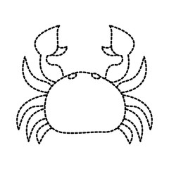 sea wild life crab marine animal image vector illustration sticker design