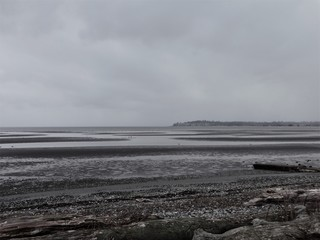 Winter storm clouds hanging over Birch Bay
