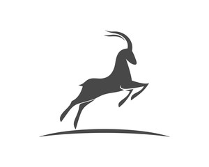 antelope Logo Template vector illustration