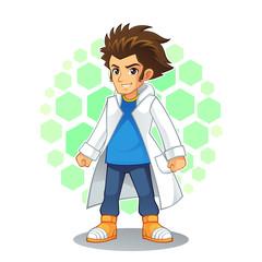 Cool Scientist Mascot Character